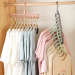 Magic Multi-point Support Hangers For Clothes - Multifunction Plastic Clothes Hangers