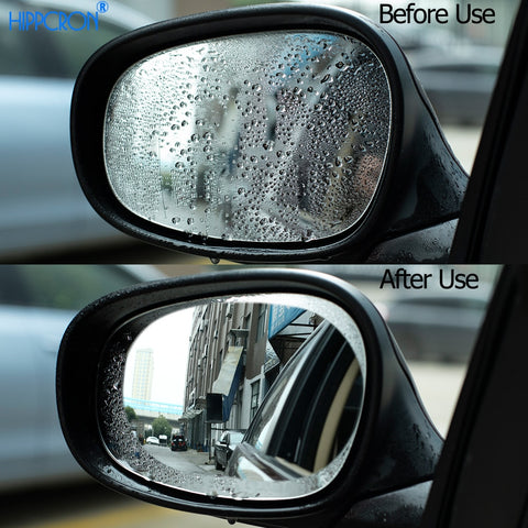 Anti Fog Sticker For Car Mirror Clear Film - 2 Pcs/Set