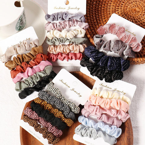 Candy Color Hair Ties For Women Hair Accessories 4-6 pcs