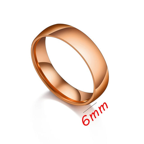 Contemporary Stainless Steel Couple Rings For Him/Her