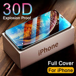 30D Full Cover Tempered Screen Protector Glass on For iPhone 11, iPhone 12 iPhone 12 Pro, iPhone 12 MAX