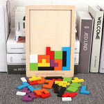 Colorful 3D Puzzle Wooden Tetris Game for Kids