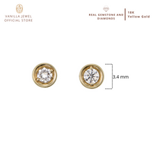 Load image into Gallery viewer, Simple Round Diamond Stud Earring