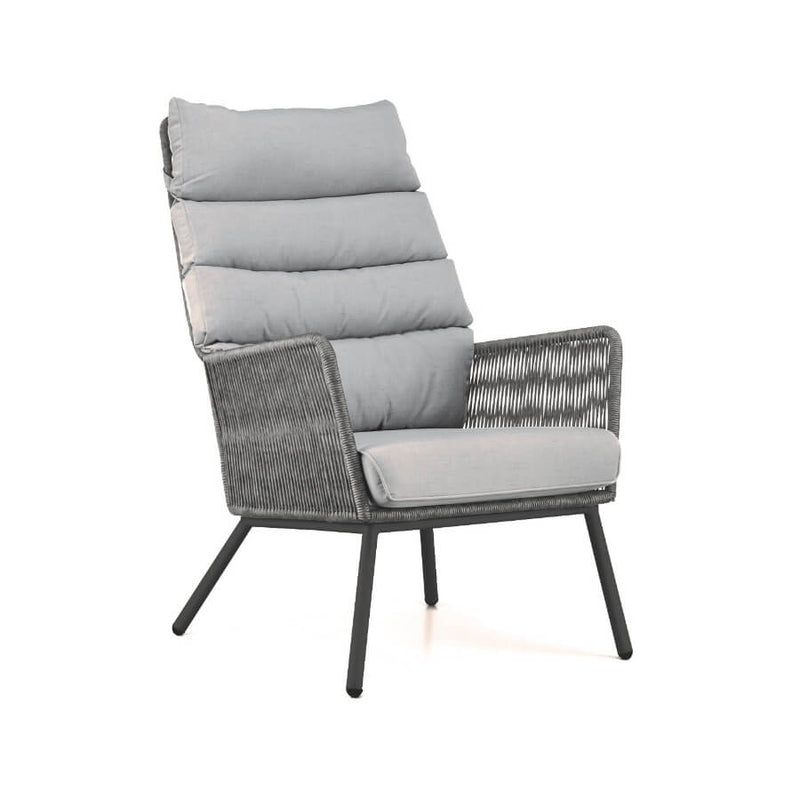 Faros loungechair shades of grey rope