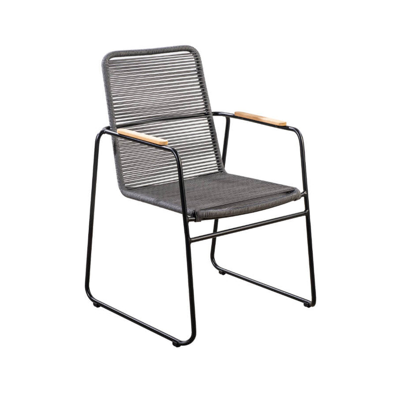 Wasabi diningchair rope dark grey