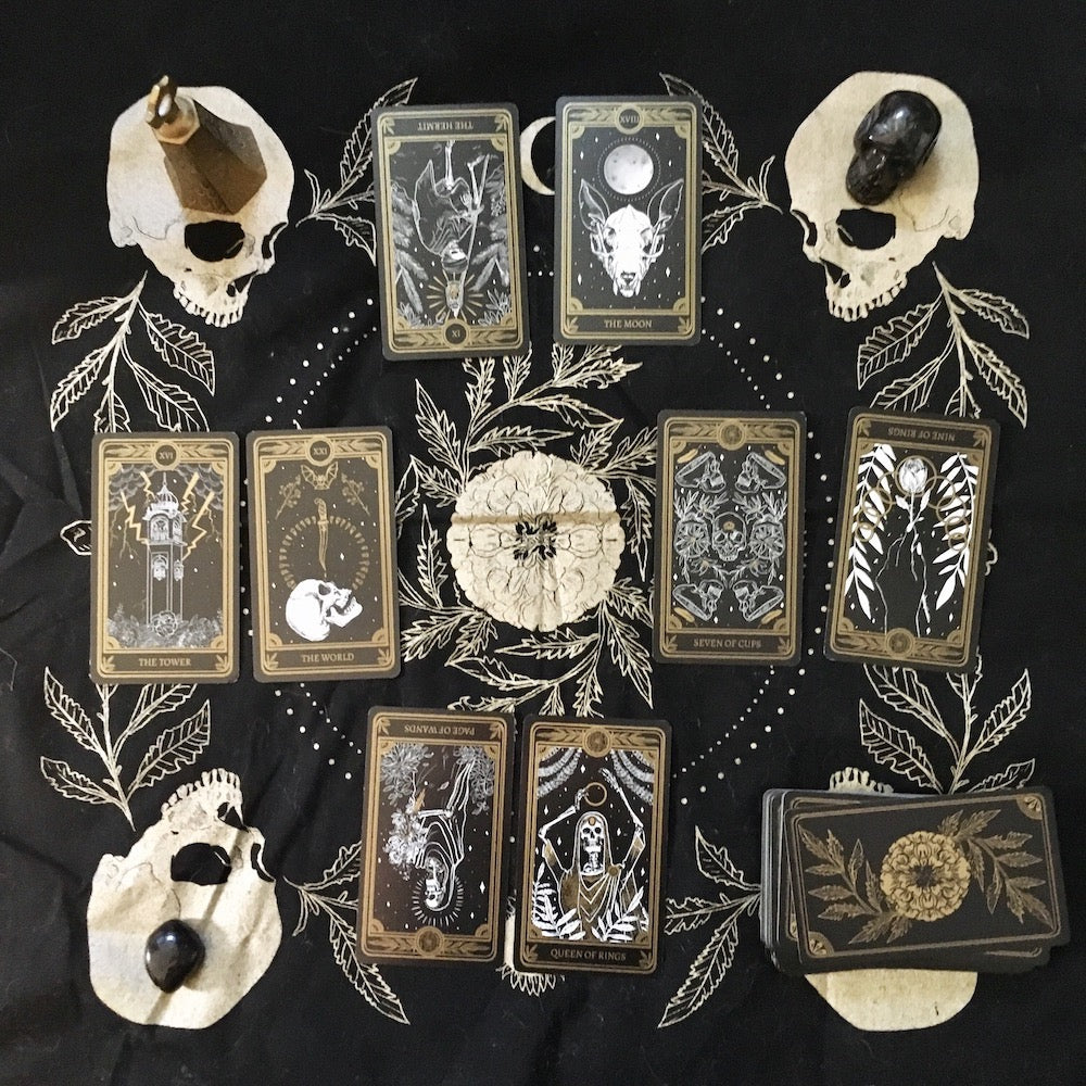 Teeth & Bone Tarot Cloth