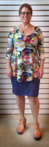 Here I am wearing a Salaam top with Laura Hlavac skirt