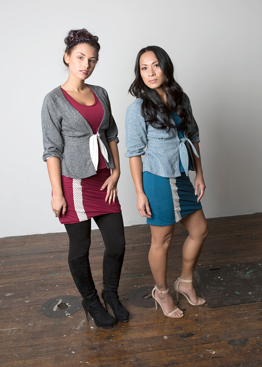 Tank and skirt are made with a blend of soy and organic cotton