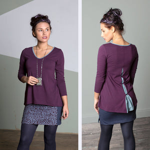 Anya top in amethyst
