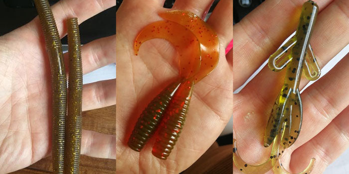 fost lures from recovered plastic