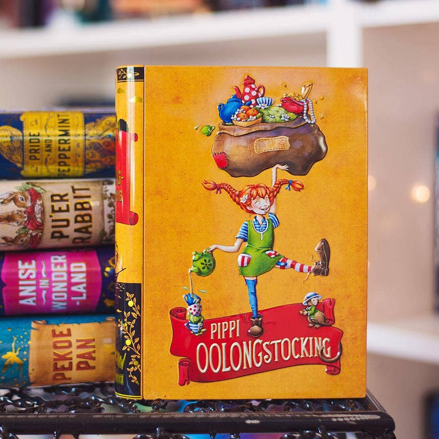 Pippi Oolongstocking - Book-shaped Tea Tin