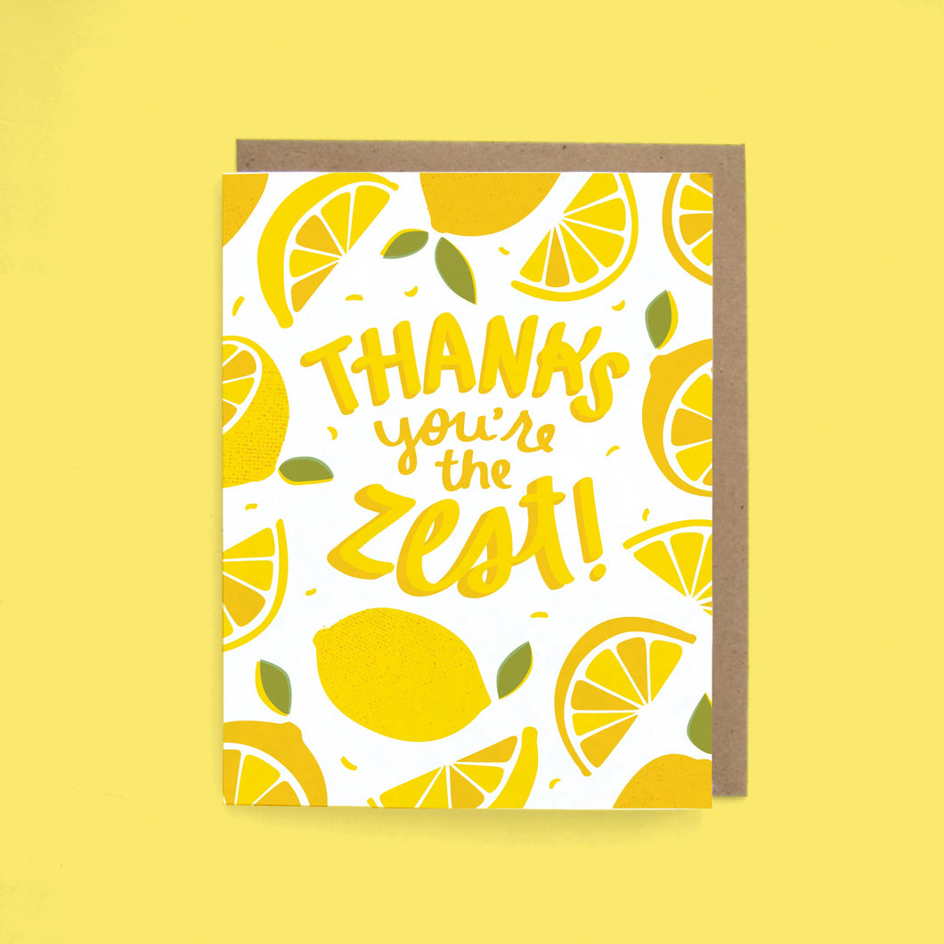 You're the Zest Thank You Card