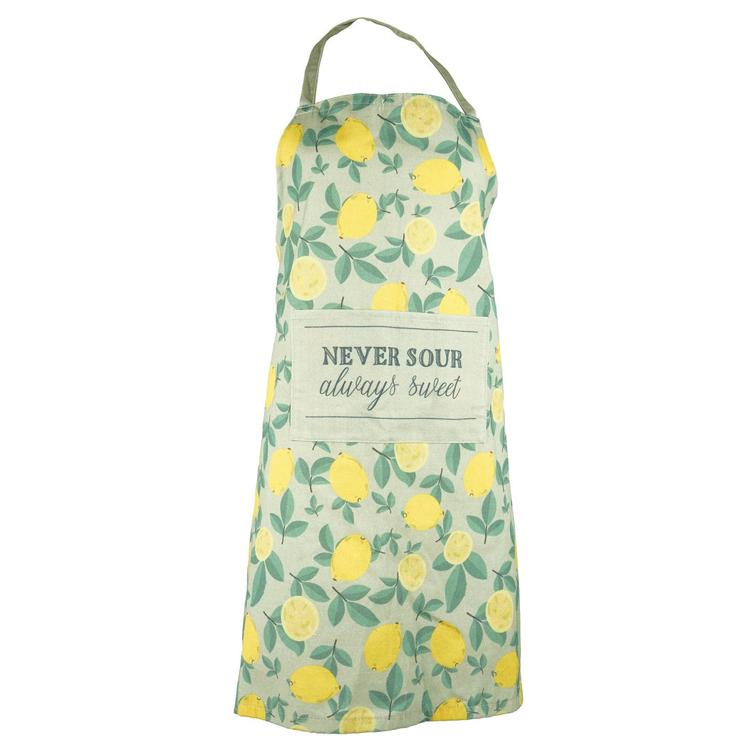 Lemon Apron & Oven Mitt Set
