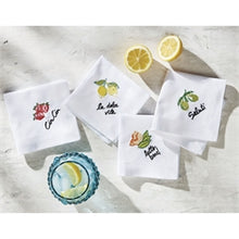 Load image into Gallery viewer, Tutti Fruitti Cocktail Napkin Set/4