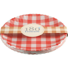 Load image into Gallery viewer, Gingham Melamine Plate Set/4