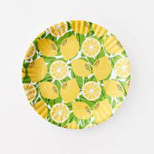 Load image into Gallery viewer, Lemon Melamine Round Tray
