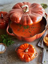 Load image into Gallery viewer, Staub Enameled Cast Iron Pumpkin Cocotte