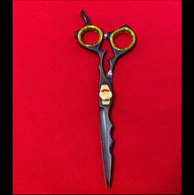 Load image into Gallery viewer, Black & Gold Beard Shears