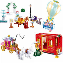 Load image into Gallery viewer, Friends Princess and Prince Toys For Children Educational Gift Hot Air Balloon and Carriage Castle and Beach Compatible Building