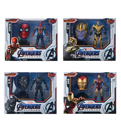 Avengers Thanos Iron Man Black Panther Spiderman Action Figure Model Toys For Children's Birthday Gifts