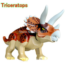 Load image into Gallery viewer, Locking Jurassic Dinosaurs Tyrannosaurus Rex Pterosauria Triceratops Building Blocks Toys For Children Assemble Dinosaur Locking