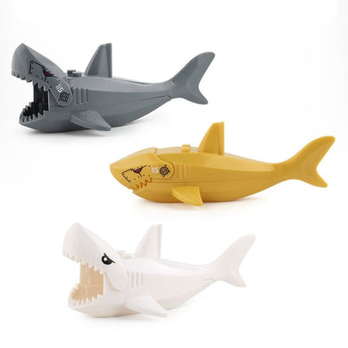 Animals Blocks Series Pirates of the Caribbean Shark Figures Building Blocks Toys For Children Assemble Toys Kids Gifts