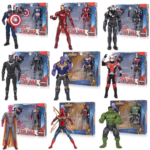Marvel Avengers Toys Thanos Hulk Buster Spiderman Iron Man Thor Wolverine Black Panther Action Figure Toys For Children's gifts