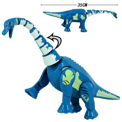 Jurassic Dinosaurs Series Brutal Raptor 35CM Dinosaur Model Building Blocks Toys For Children Animals Jurassic Kids Gifts