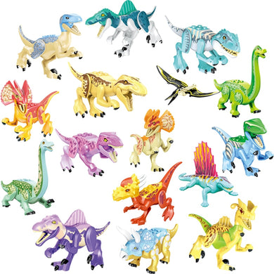 Jurassic Dinosaur Big Size Sets Toys For Children Gifts For Kids Accessory Kinds of Dinosaurs Colorful Compatible Building Block