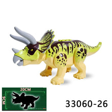 Load image into Gallery viewer, Dinosaur Jurassic Green Triceratops Cultivate Interest Birthday Present Educational Building Blocks Suitable for Kids Dinosaur