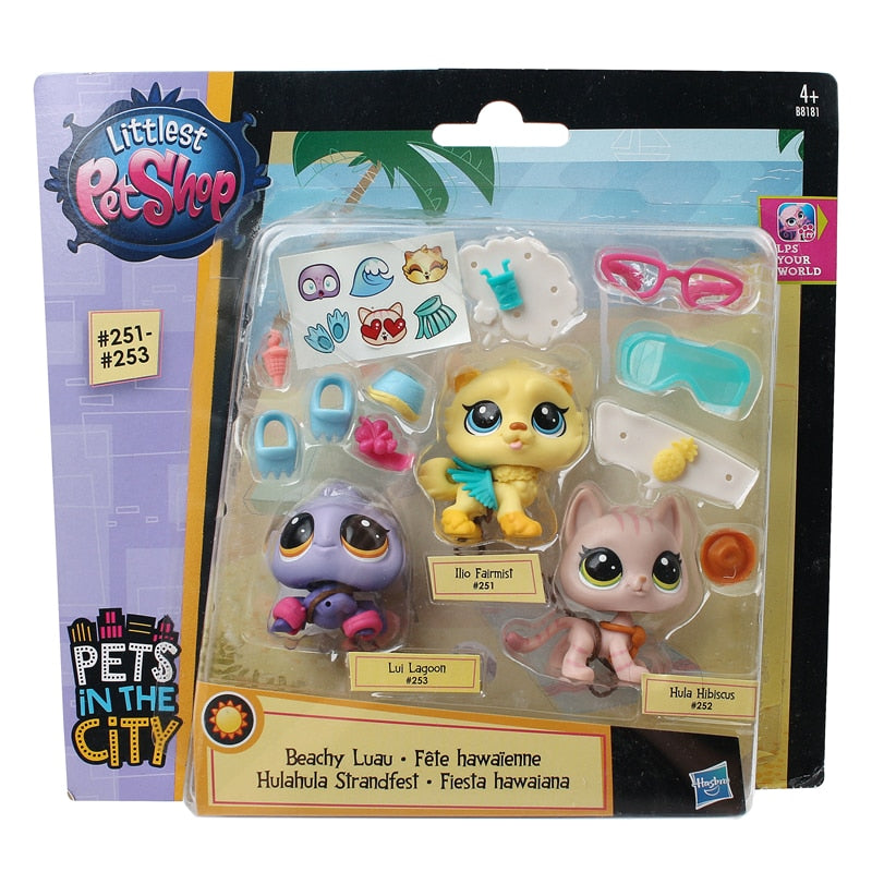 Genuine Pet Animal House LPS Littlest Pet Shop Small Animal Car Decoration Doll Hand-made Toy For Children's Christmas Gift