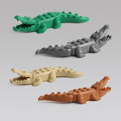 Animals Figures Crocodile Single Sale Building Blocks Gifts Toys For Children Assemble Animals Toys Educational Toy
