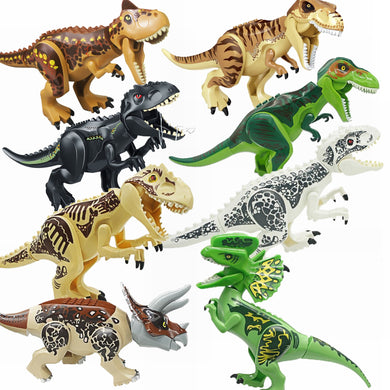Fit for Locking Jurassic Dinosaurs Tyrannosaurus Rex Wyvern Velociraptor Building Blocks Toys For Children Locking Dinosaurs