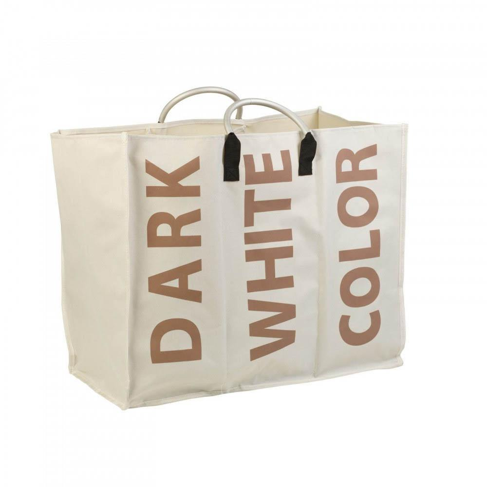 Washing Bag With Text Print Rectangular | Cream