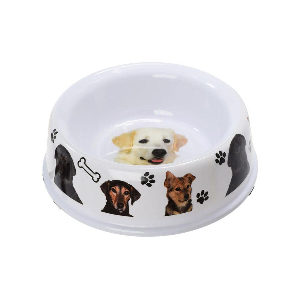 DOG BOWL WITH RUBBER BASE