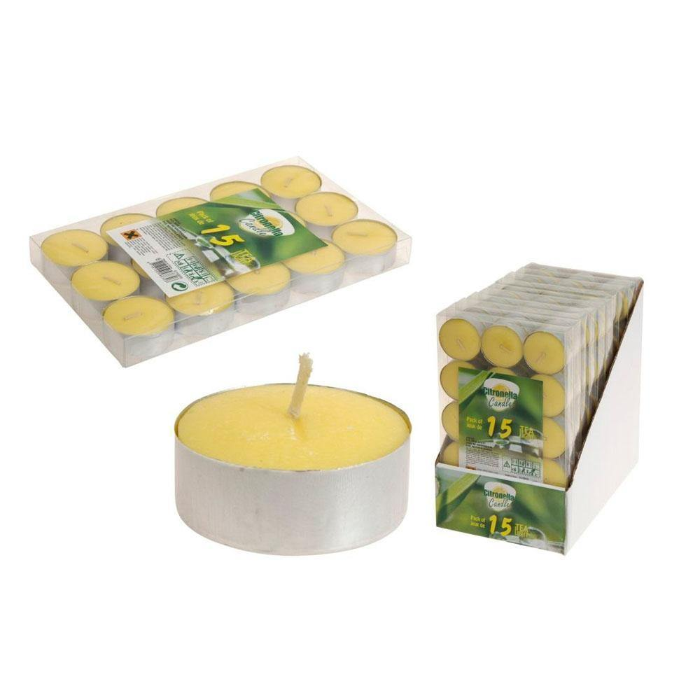 CITRONELLA TEALIGHT 15PC