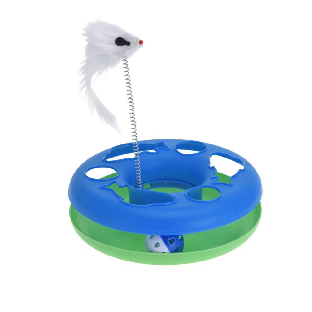 Cat Toy Chase Game with Ball and Mouse on Spring - Ecolifestyle.shop
