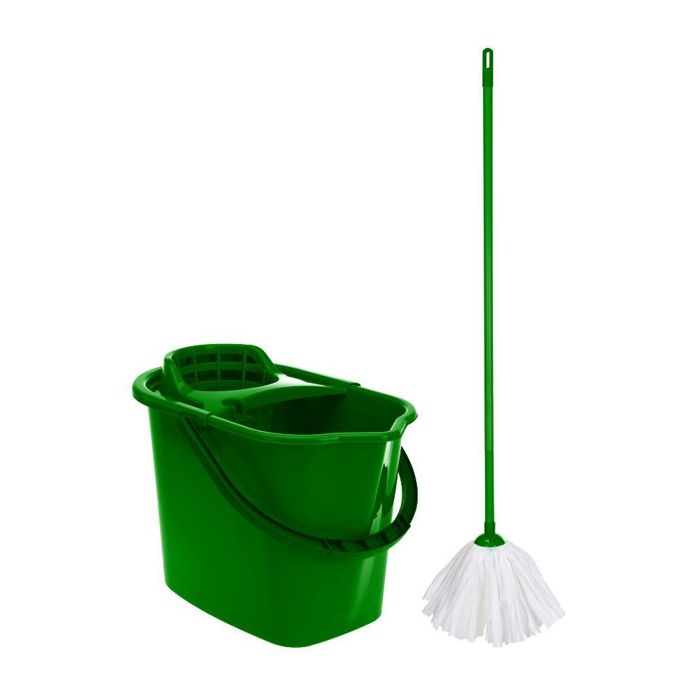 Mop and bucket | Green