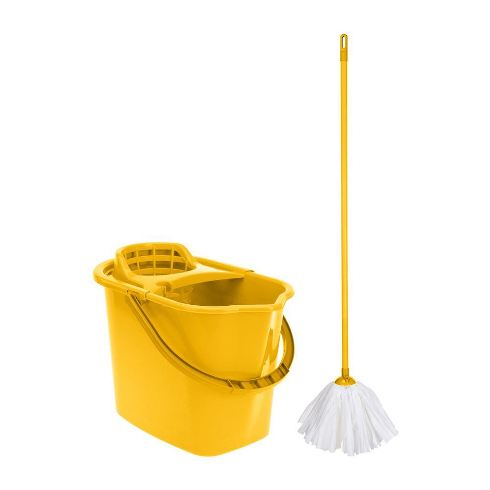 Mop and bucket | Yellow