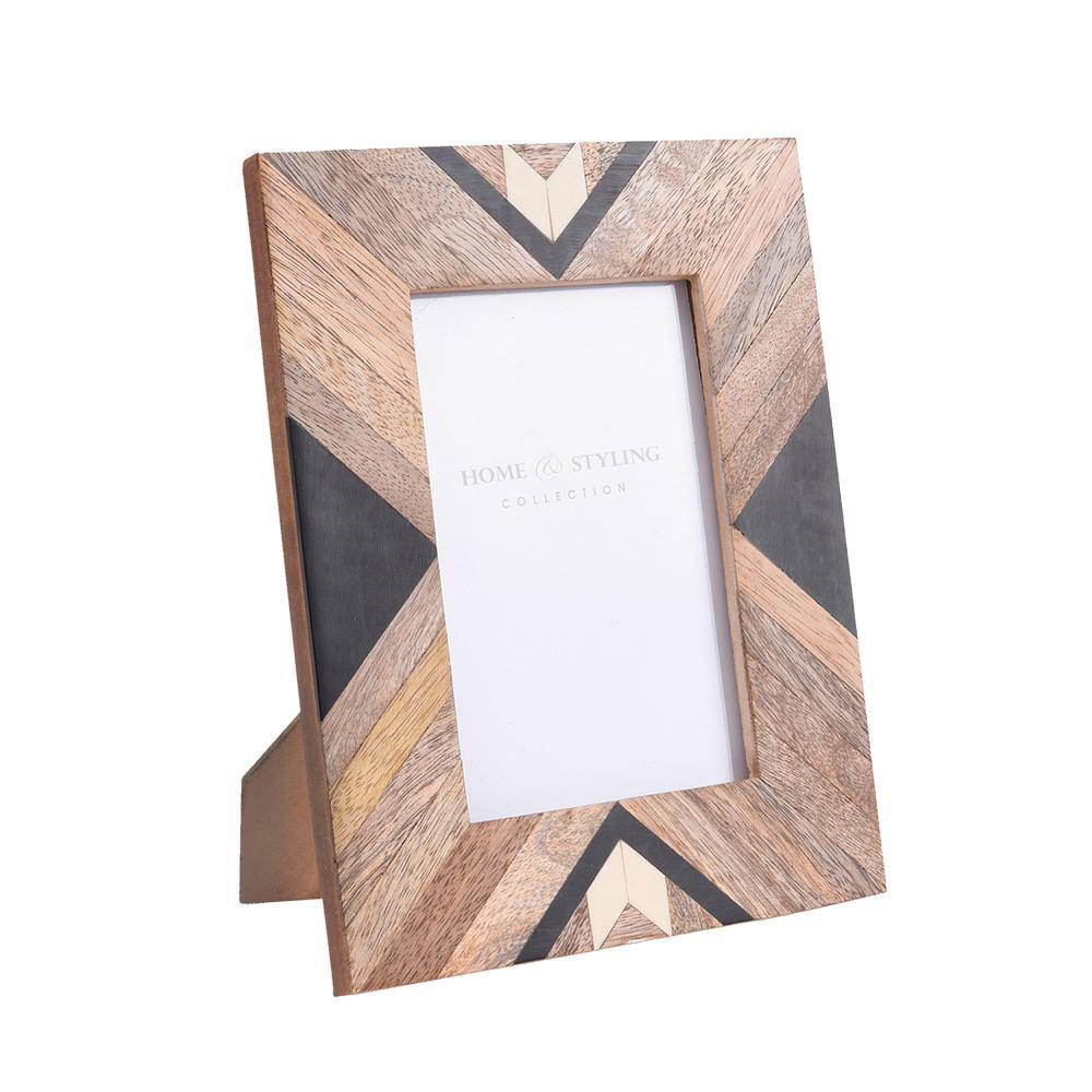 Large Wooden Photo Frame - Tribal Design