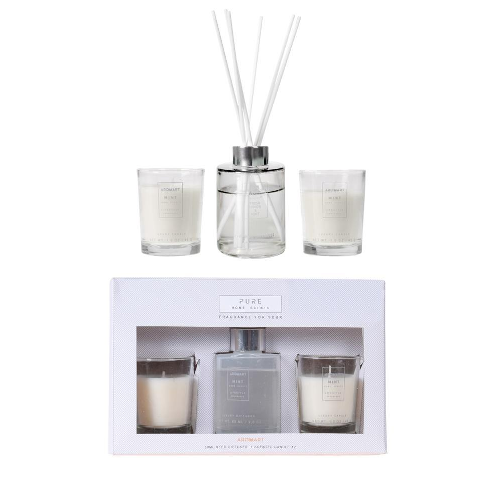 3PC MINT FRAGRANCE SET - IVORY WHITE