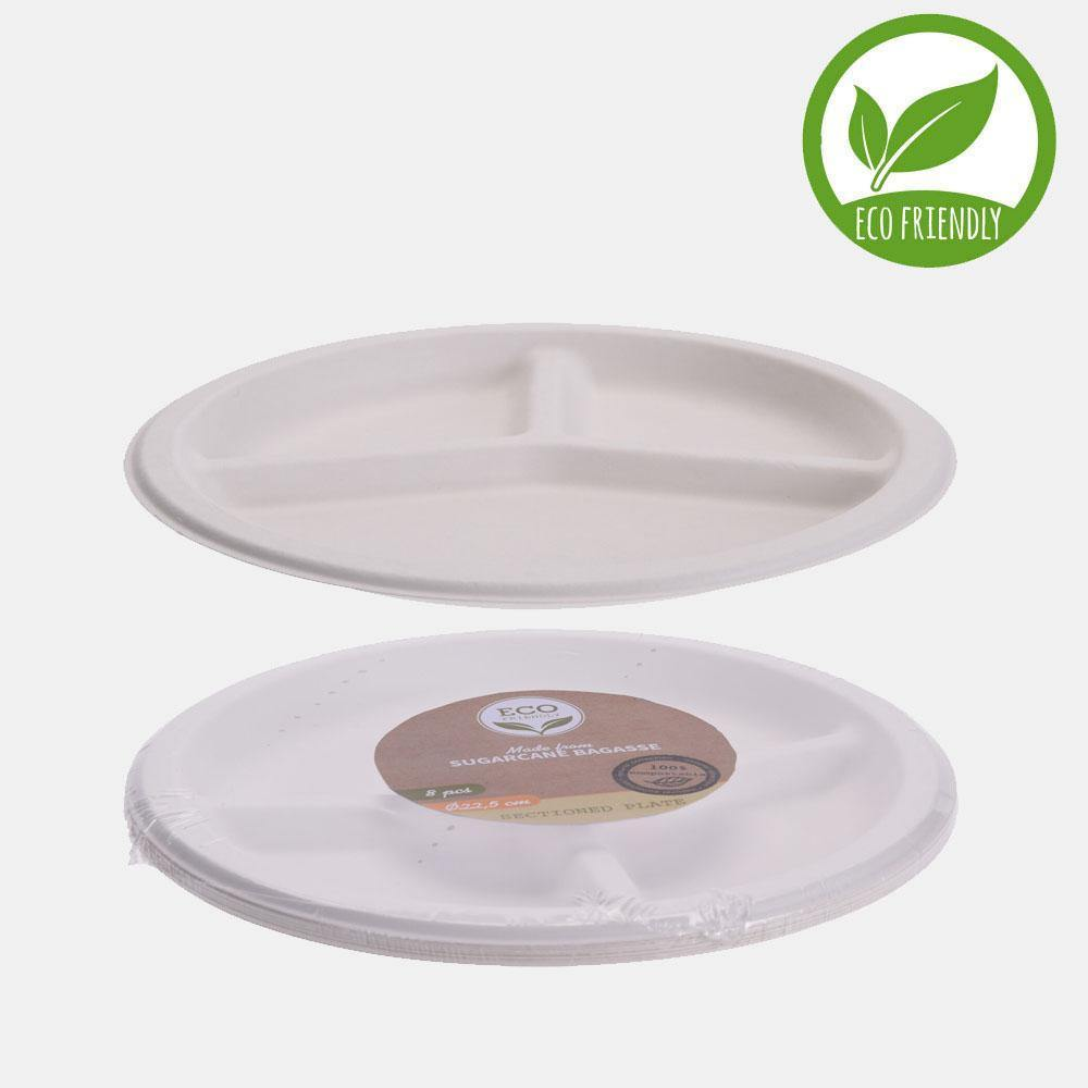 COMPARTMENT PLATE SET OF 8PCS