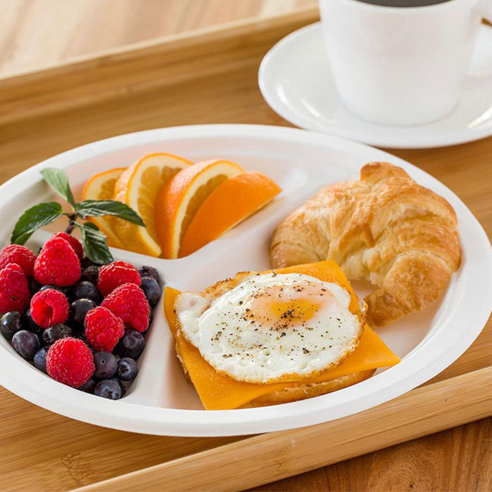 Compartment Plate Set Of 8 pieces