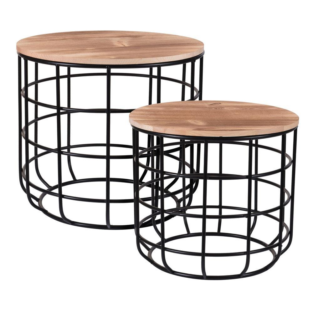 Pinewood Side Table - Set of 2 - Ecolifestyle.shop