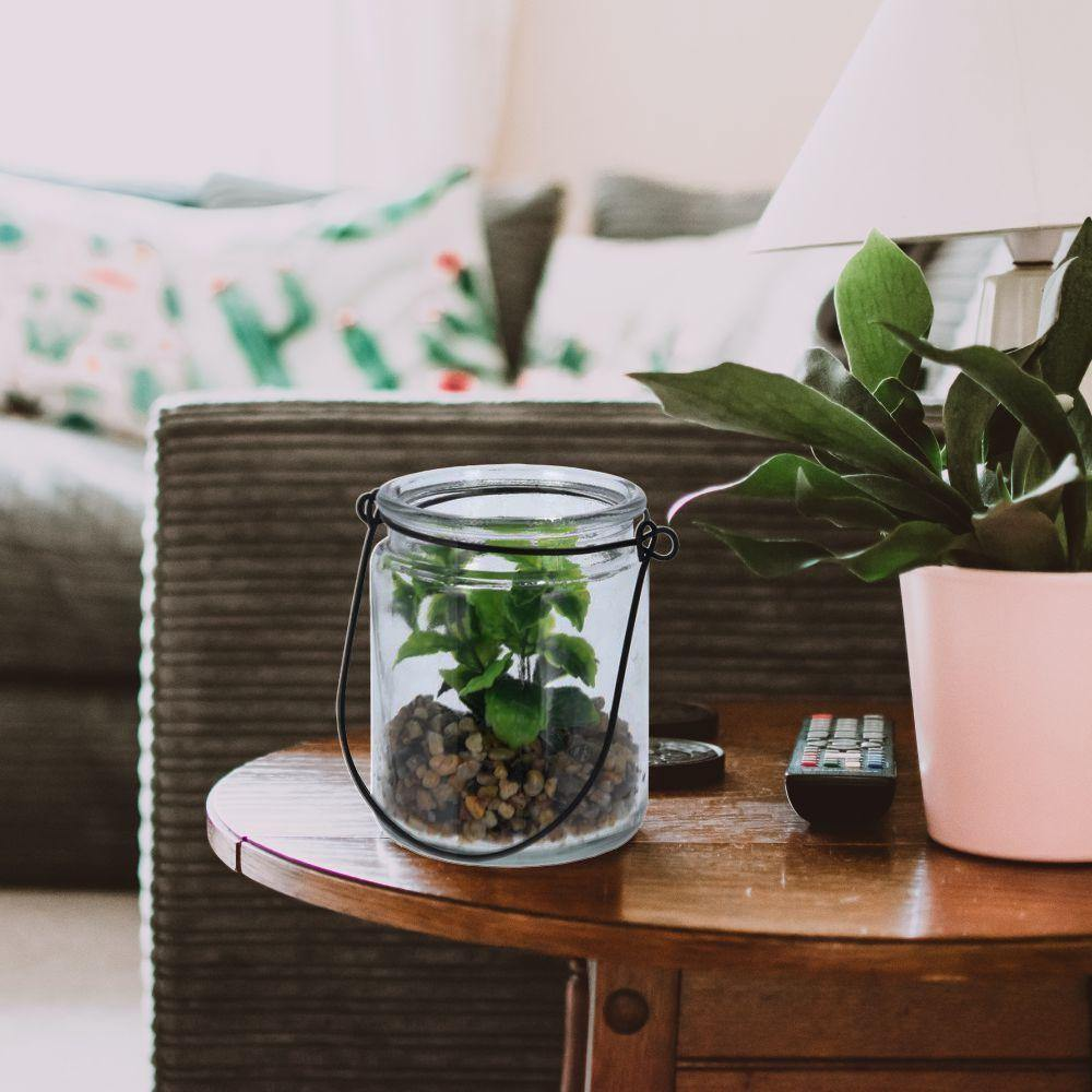 Artificial Plant in Glass Pot - Ecolifestyle.shop