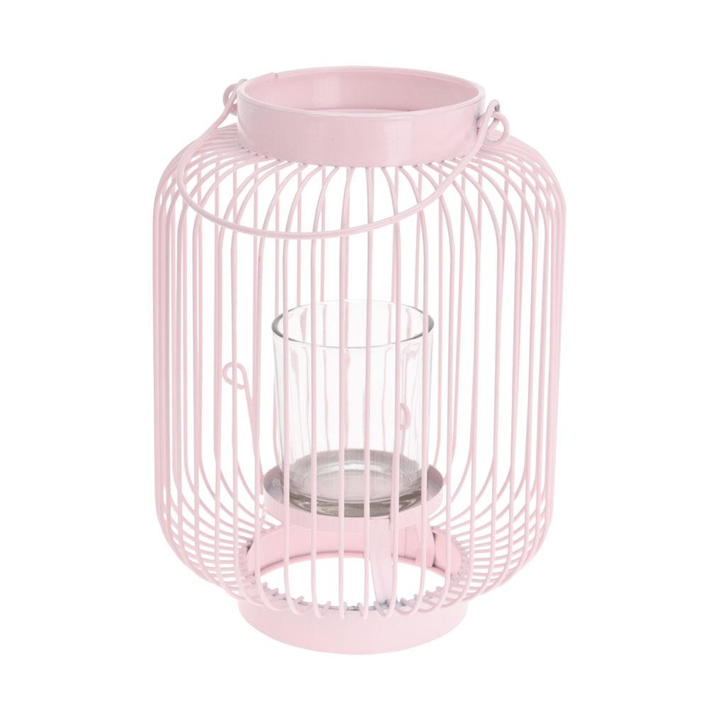Metal Wire Lantern - Cream