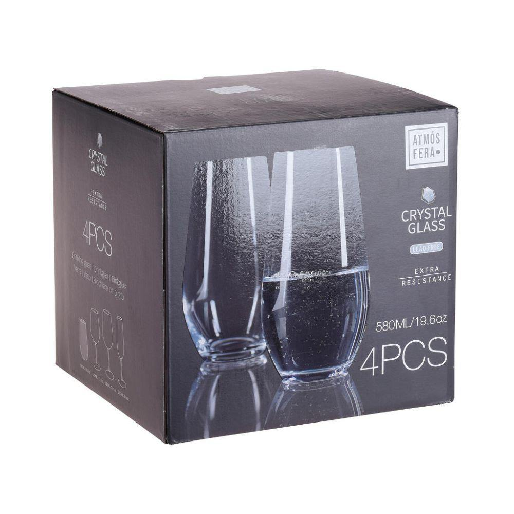 580ml Crystalline Water Glass - Set of 4 - Ecolifestyle.shop