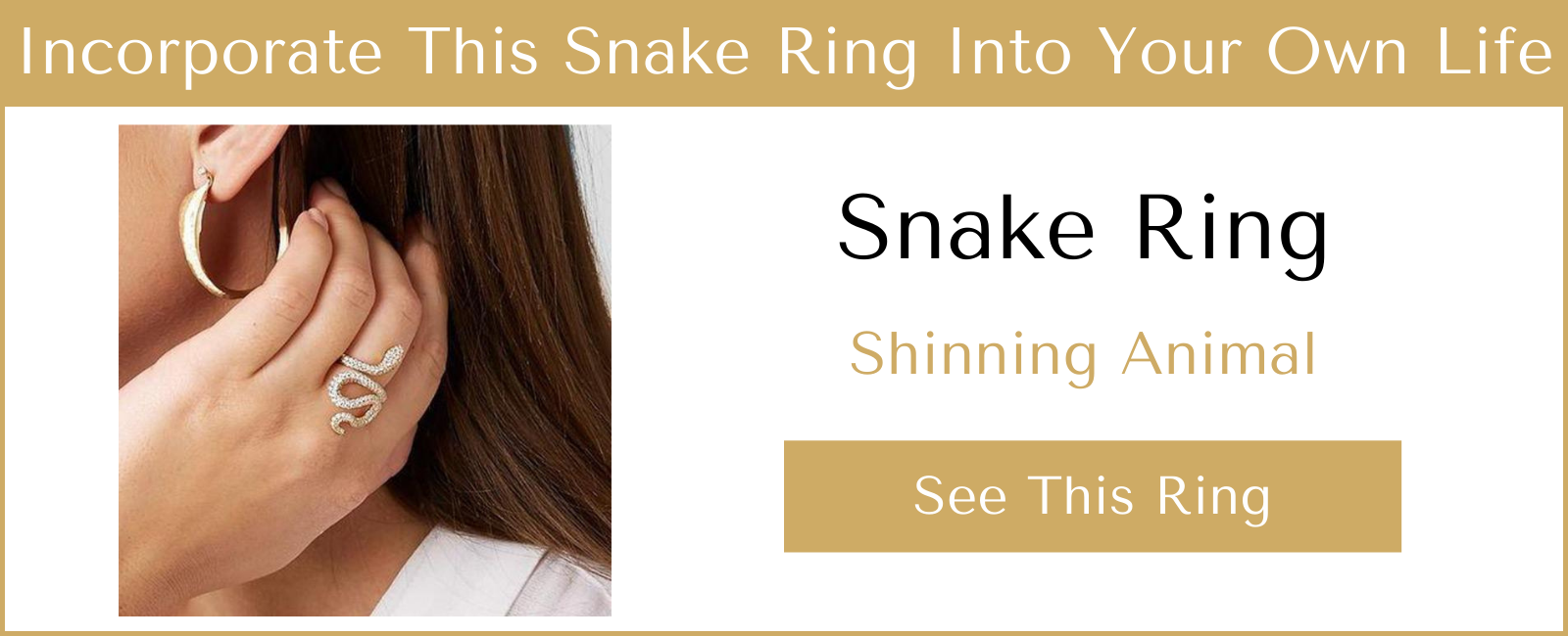 Snake Ring, perfect jewelry