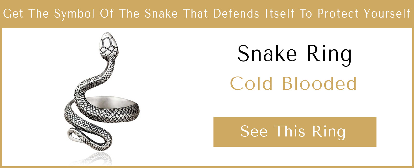 Coiled Serpent Ring Presentation