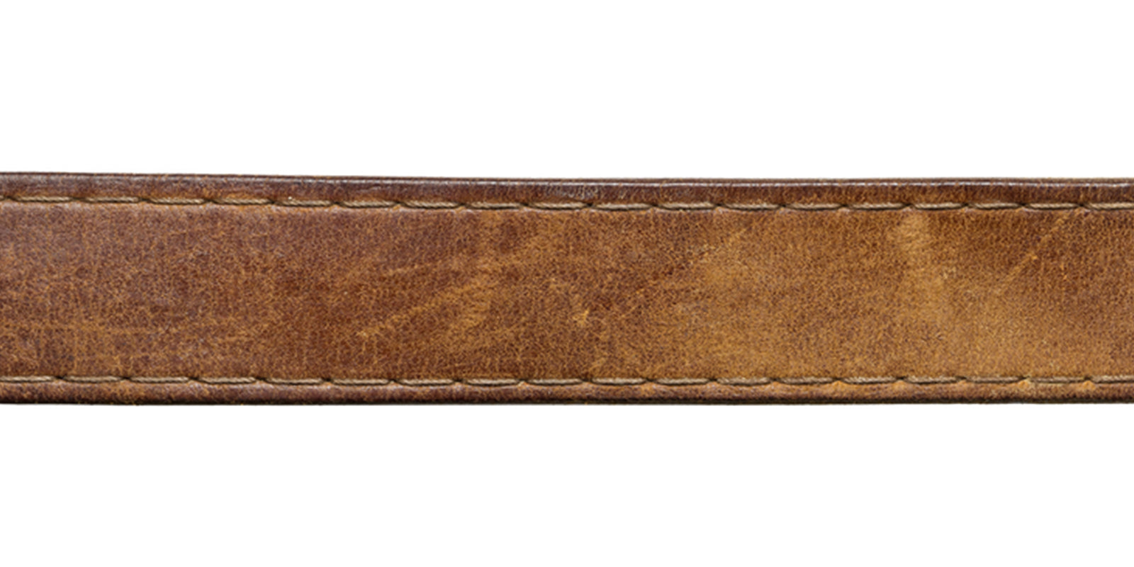 Leather of a belt